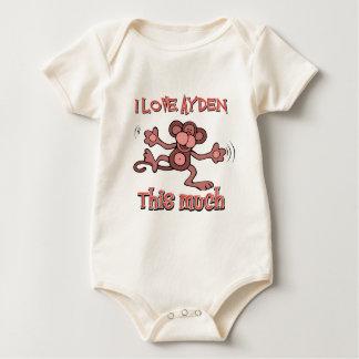 I love AYDEN this much Baby Bodysuit