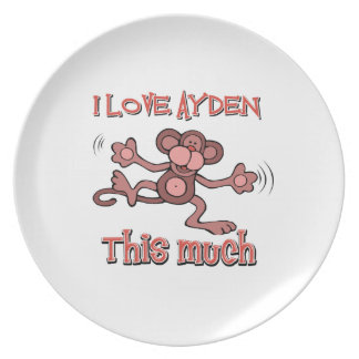I love AYDEN this much Party Plates