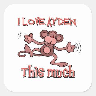 I love AYDEN this much Square Sticker