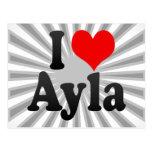 I love Ayla Post Card