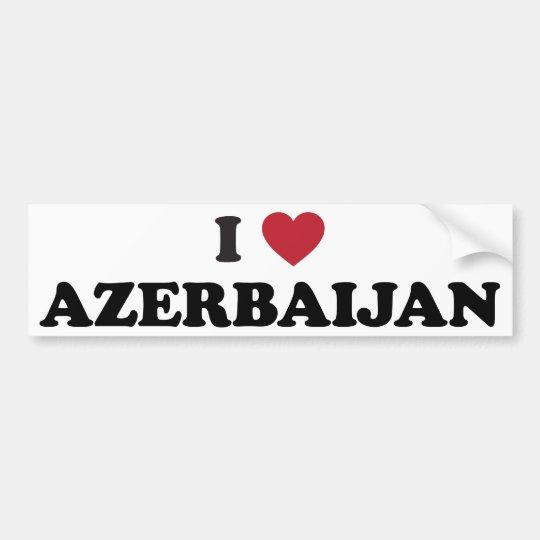 I Love Azerbaijan Bumper Sticker