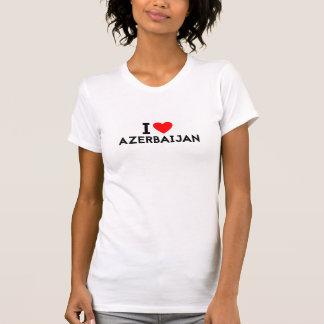 i love Azerbaijan country nation heart symbol text T-Shirt