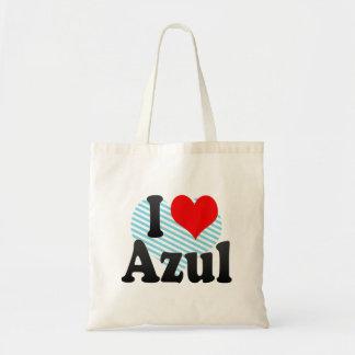 I love Azul Tote Bags