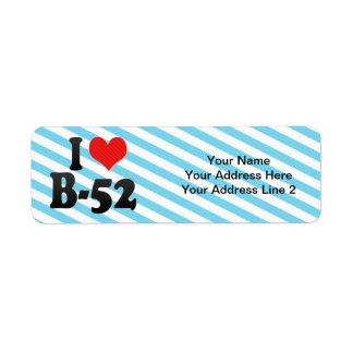 I Love B-52 Return Address Label