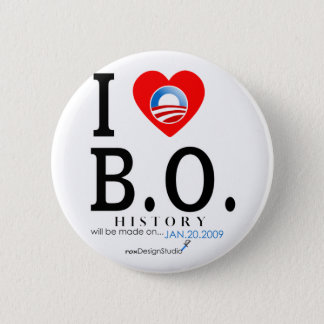 I Love B O 6 Cm Round Badge