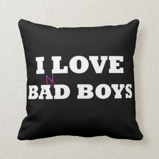 I Love Ba(n)d Boys Argyle Pillow