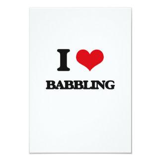 I Love Babbling 9 Cm X 13 Cm Invitation Card