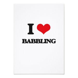 "I Love Babbling 5"" X 7"" Invitation Card"