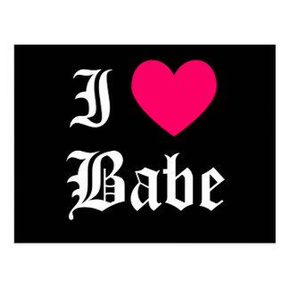 I Love Babe Postcard
