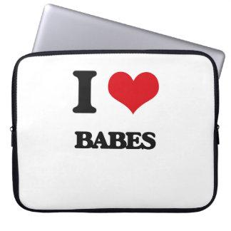I Love Babes Laptop Sleeve