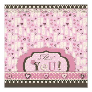 I Love Babies TY Square 13 Cm X 13 Cm Square Invitation Card