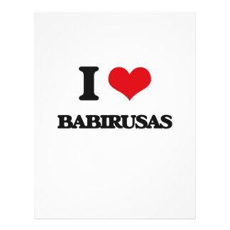 I love Babirusas Flyer