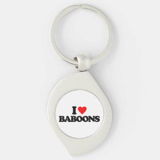 I LOVE BABOONS KEY CHAINS