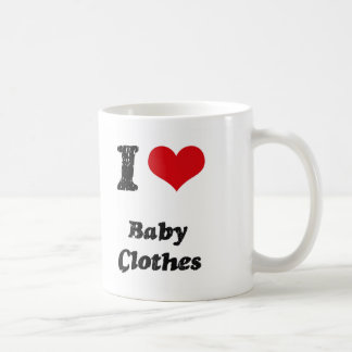 I Love BABY CLOTHES Mug