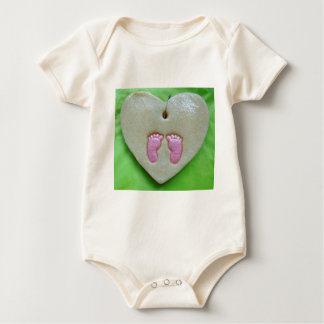 I love baby feet baby bodysuit
