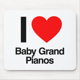 i love baby grand pianos mousepad