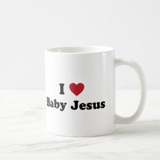 I love baby jesus basic white mug