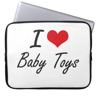 I Love Baby Toys Artistic Design Laptop Computer Sleeve