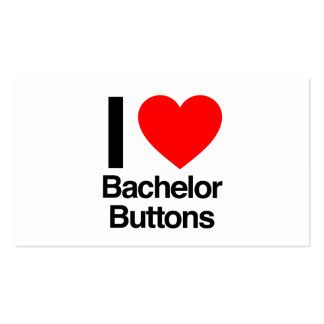 i love bachelor buttons pack of standard business cards