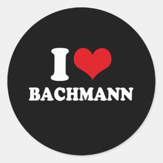 I LOVE BACHMANN (white) Stickers