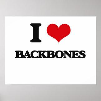 I Love Backbones Posters