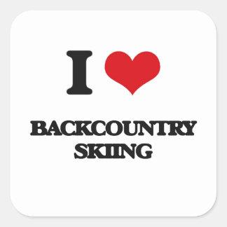 I Love Backcountry Skiing Sticker