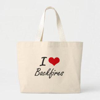 I Love Backfires Artistic Design Jumbo Tote Bag