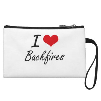I Love Backfires Artistic Design Wristlet Clutch