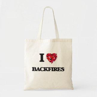 I Love Backfires Budget Tote Bag
