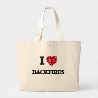 I Love Backfires Jumbo Tote Bag