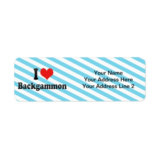 I Love Backgammon Return Address Label