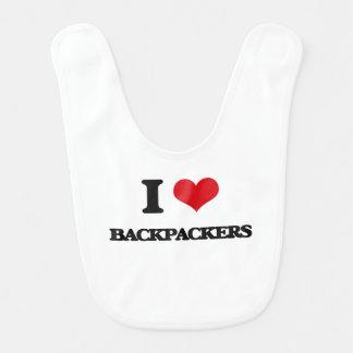 I Love Backpackers Bib