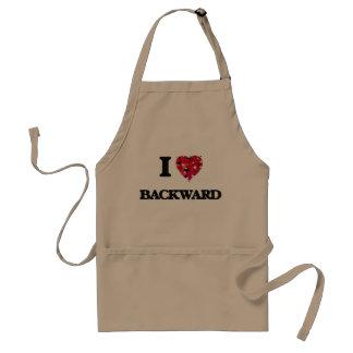 I Love Backward Standard Apron