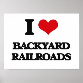 I Love Backyard Railroads Posters