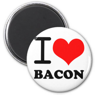 I love bacon 6 cm round magnet