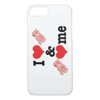 I Love Bacon and Bacon Loves Me back iPhone 7 Case
