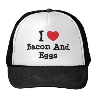 I love Bacon And Eggs heart T-Shirt Hats
