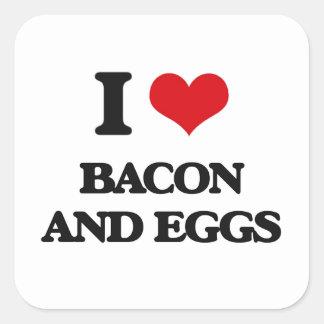 I love Bacon And Eggs Square Sticker