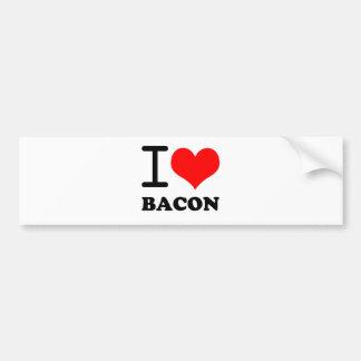 I love bacon bumper stickers