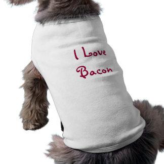I Love Bacon Sleeveless Dog Shirt