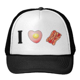 I Love Bacon Mesh Hats