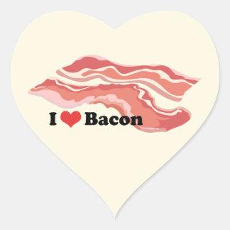 I Love Bacon Heart Stickers