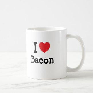 I love Bacon heart T-Shirt Coffee Mugs