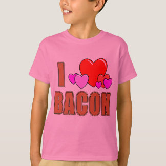I Love Bacon I Heart Bacon Fun Bacon Design T-Shirt