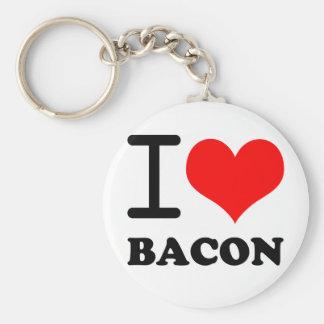 I love bacon key ring