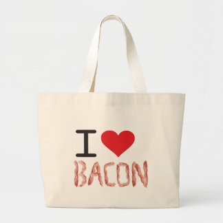 I Love Bacon Large Tote Bag