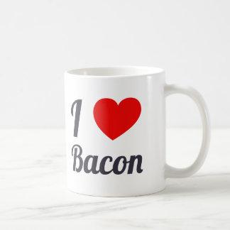 I Love Bacon Coffee Mugs