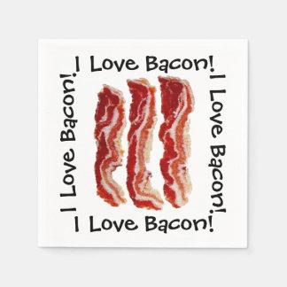 I Love Bacon Paper Napkin