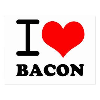 I love bacon post card