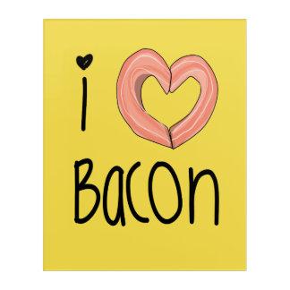 I love bacon poster acrylic print